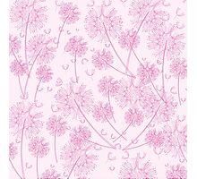 Pink Dandelion Background Photographic Print