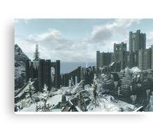 Skyrim Winterhold Canvas Print