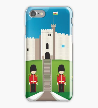Cardiff, Wales - Skyline Illustration by Loose Petals iPhone Case/Skin