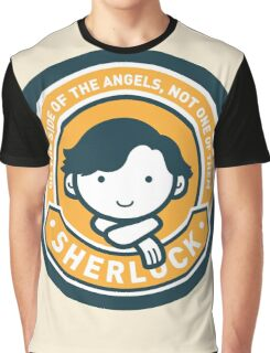 Cute Sherlock Holmes in Orange Graphic T-Shirt
