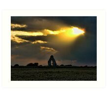 Midley Church Ruin  Art Print