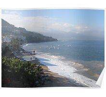 A Chilly Wintermorning at Olas Altas Beach - Una Mañana Fria en la Playa Poster