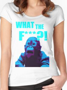 What The F***?! HILARIOUS MONKEY MEME Women's Fitted Scoop T-Shirt