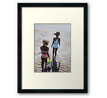Beach Babes Framed Print