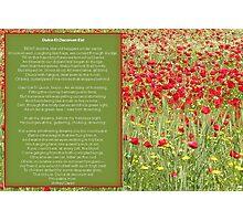 Dulce et decorum est Pro patria mori. Poem Greeting Card Photographic Print