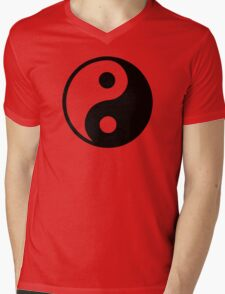 Yin Yang Mens V-Neck T-Shirt