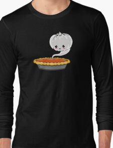 Sad Pumpkin | Cute Pumpkin Ghost  Long Sleeve T-Shirt