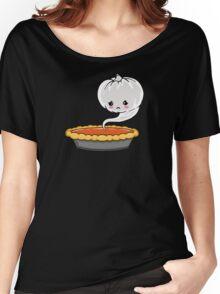 Sad Pumpkin | Cute Pumpkin Ghost  Women's Relaxed Fit T-Shirt