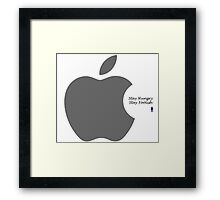 Steve Jobs- Stay Hungry Stay Foolish Framed Print