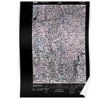 USGS Topo Map Washington State WA Bothell 20110504 TM Inverted Poster