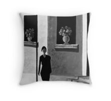 The Watchers From The Windows B&W Throw Pillow