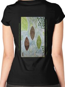 Kayaks on Autopilot Going Home for the Winter Women's Fitted Scoop T-Shirt