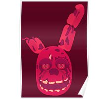 Wine Red Springtrap Poster