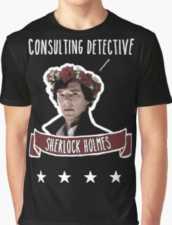 Consulting detective Sherlock Holmes Graphic T-Shirt
