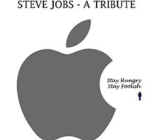 Stay Hungry Stay Foolish- Steve Jobs by Trilbycole