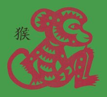 Chinese Paper Cut Year Of The Monkey Kids Tee