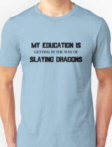 My Education Slaying Dragons T-Shirt
