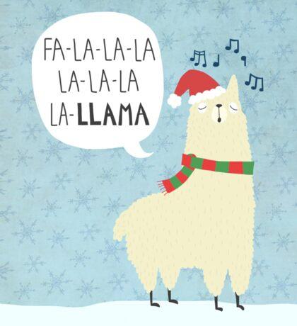 Fa La La La Llama - Christmas  Sticker