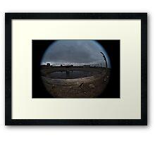 Abandoned chemical plant Framed Print