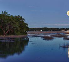 Broad Creek Moonrise by jimcrotty