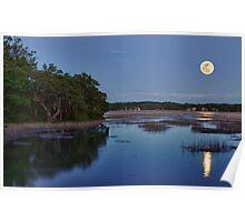 Broad Creek Moonrise Poster