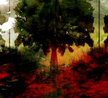Tree Abstract Triptich Sticker