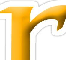 r Yellow - Google Font  Sticker