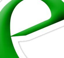 e Green - Google Font Sticker