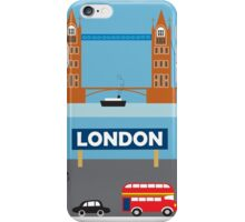London, England - Skyline Illustration by Loose Petals iPhone Case/Skin