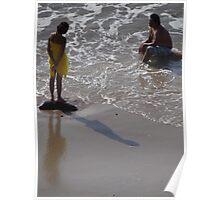 Enjoying The Ocean - Disfrutando El Mar Poster