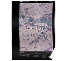USGS Topo Map Washington State WA Oakville 20110406 TM Inverted Poster