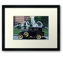 1928 Ford Model A Sedan at the J.C. Nichols Fountain Framed Print