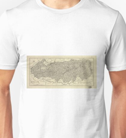 The Great Smoky Mountains National Park Map (1935) Unisex T-Shirt