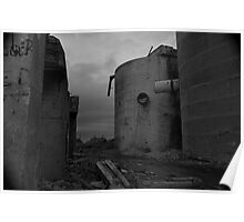 Abandoned chemical plant Poster