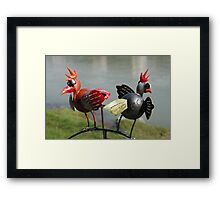 2 funny birds Framed Print