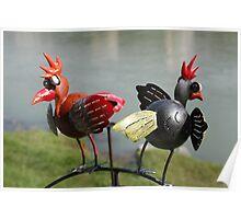 2 funny birds Poster