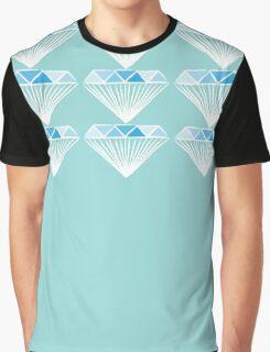 Diamond - Blue and Grey Graphic T-Shirt