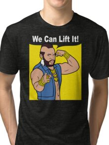 Gym Mr T We Can Lift It! Tri-blend T-Shirt