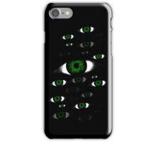 Many Green Eyes iPhone Case/Skin