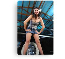 Beth and a Ford Canvas Print
