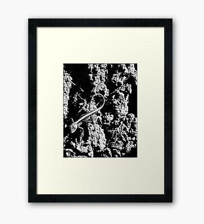Reptile Noir Framed Print