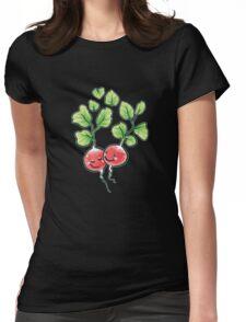 Veggie Lovin' white lining Womens Fitted T-Shirt