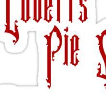 Mrs. Lovett's Pie Shoppe (Red/White) Sticker