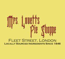 Mrs. Lovett's Pie Shoppe (Red/Black) Kids Clothes