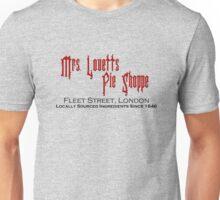Mrs. Lovett's Pie Shoppe (Red/Black) Unisex T-Shirt