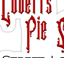Mrs. Lovett's Pie Shoppe (Red/Black) Sticker
