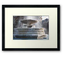 Frozen Fountain Framed Print
