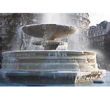 Frozen Fountain Photographic Print
