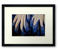 Udderly Blue, Knit Gloves Framed Print
