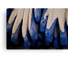 Udderly Blue, Knit Gloves Canvas Print